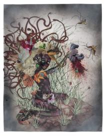 Wangechi Mutu, The Bride who Married a Camel's Head, 2009. © Wangechi Mutu. Image courtesy of the artist and Susanne Vielmetter Los Angeles Projects
